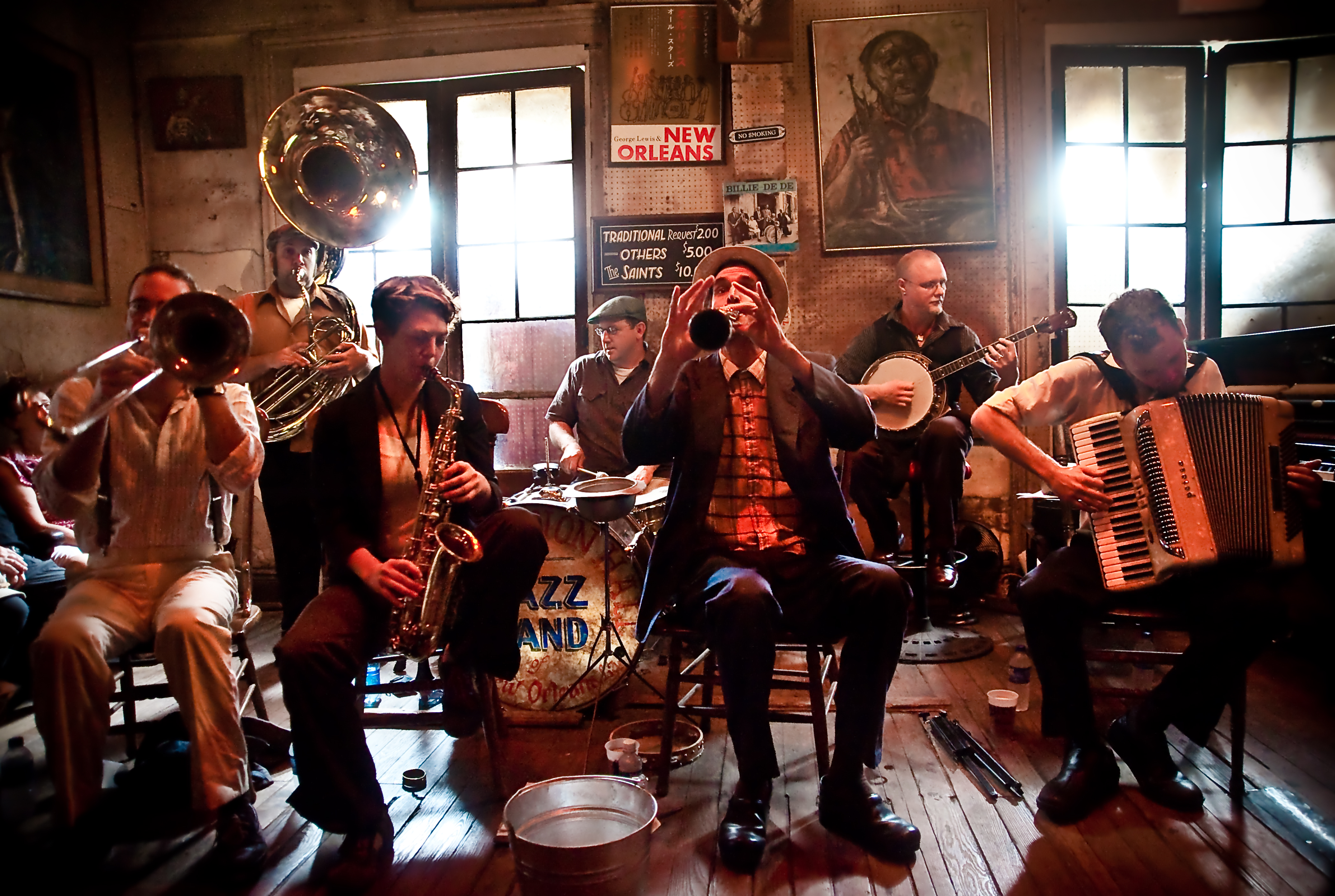 report on new orleans jazz band The first rule of new orleans is that you always talk about new orleans   rebirth brass band is one of the city's most famous exports, but they still call   she has spent much of the last couple of years reporting from almost.